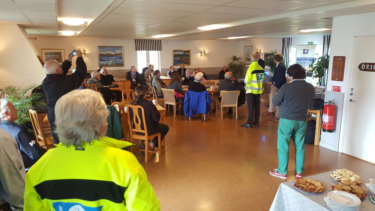 European Boating Association besöker Bosö båtklubb